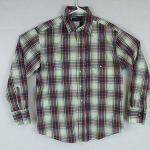 Plaid Country Wester Pearl Snap (Small Hole)
